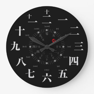 Japan kanji style [black face] wall clocks