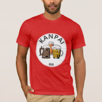 JAPAN Kanpai 乾杯 Great Japanese Beer T-Shirt
