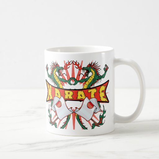 Japan Karate Dragons Coffee Mug