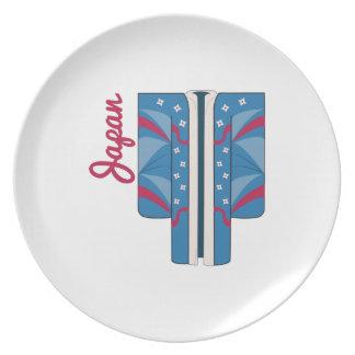 Japan Kimono Dinner Plates