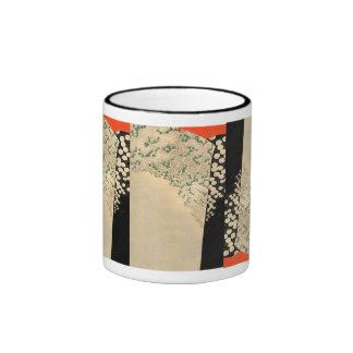 Japan - kimonoo design- 1891 taza de dos colores