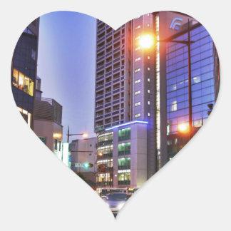 Japan Kitakyushu Town Heart Sticker