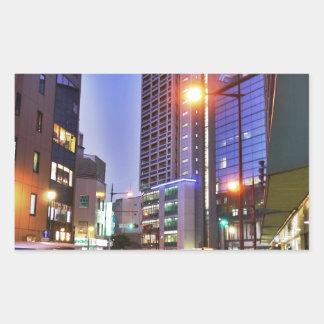Japan Kitakyushu Town Rectangular Sticker