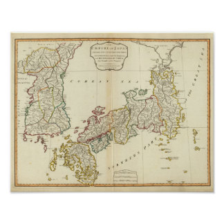 Japan, Korea Poster