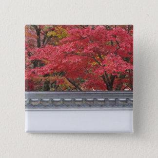 Japan, Kyoto, Autumn Color at Eikando Temple Button