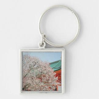 Japan, Kyoto. Cherry blossom of Shinto Key Chain