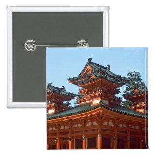 Japan, Kyoto, Colorful Heian Jingu Temple, Button