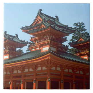Japan, Kyoto, Colorful Heian Jingu Temple, Ceramic Tile
