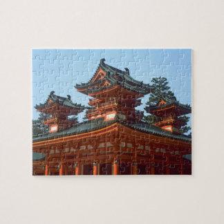 Japan Kyoto Colorful Heian Jingu Temple Jigsaw Puzzle