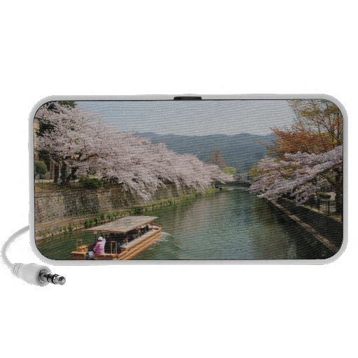 Japan, Kyoto. Flower viewing on the boat Mini Speaker