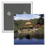 Japan, Kyoto, Golden Pavilion, Zen Temple 2 Inch Square Button