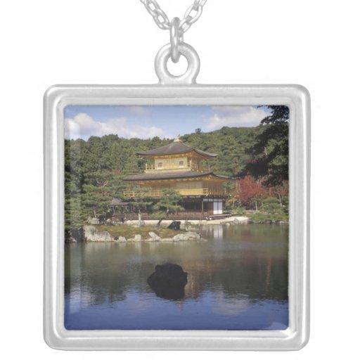 Japan, Kyoto, Golden Pavilion, Zen Temple Square Pendant Necklace