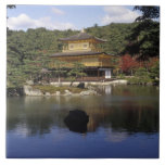 Japan, Kyoto, Golden Pavilion, Zen Temple Large Square Tile