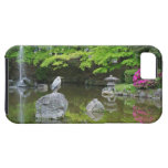 Japan, Kyoto. Heron in fresh green leaves iPhone 5 Cover