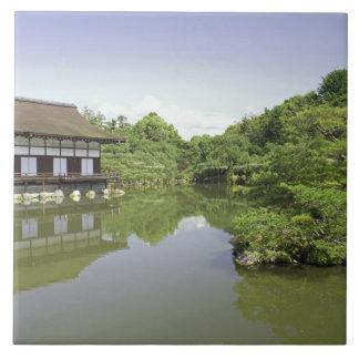 Japan, Kyoto, Japanese Garden of Heian Shrine 2 Large Square Tile