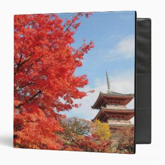Japan, Kyoto. Kiyomizu temple in Autumn color Binder