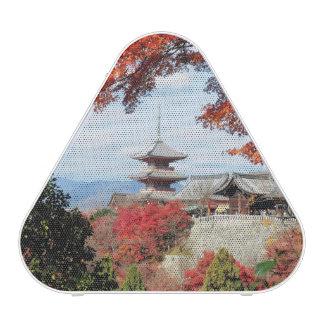 Japan, Kyoto. Kiyomizu temple in Autumn color Bluetooth Speaker