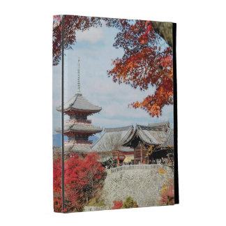 Japan, Kyoto. Kiyomizu temple in Autumn color iPad Cases