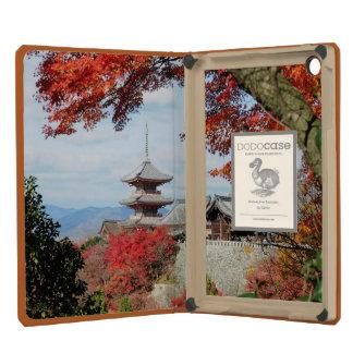 Japan, Kyoto. Kiyomizu temple in Autumn color iPad Mini Covers