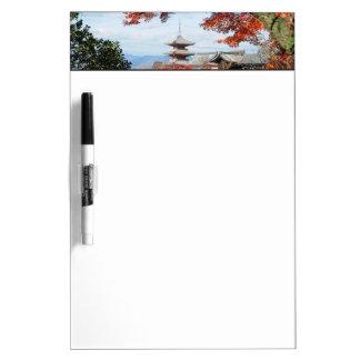 Japan, Kyoto. Kiyomizu temple in Autumn color Dry-Erase Board