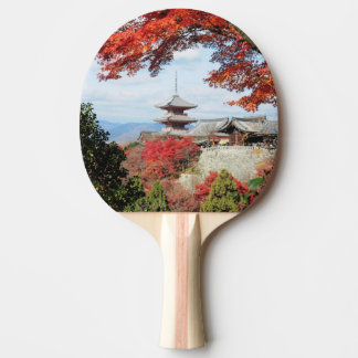 Japan, Kyoto. Kiyomizu temple in Autumn color Ping Pong Paddle