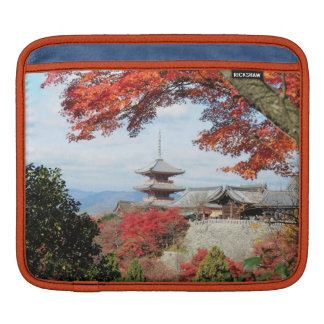 Japan, Kyoto. Kiyomizu temple in Autumn color iPad Sleeves