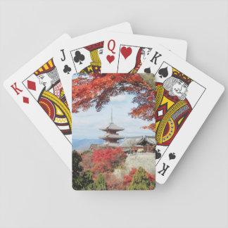 Japan, Kyoto. Kiyomizu temple in Autumn color Poker Deck