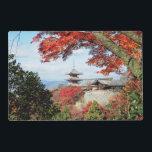 "Japan, Kyoto. Kiyomizu temple in Autumn color Placemat<br><div class=""desc"">COPYRIGHT Shin Terada / DanitaDelimont.com | AS15 STE0323.jpg | Japan,  Kyoto. Kiyomizu temple in Autumn color</div>"