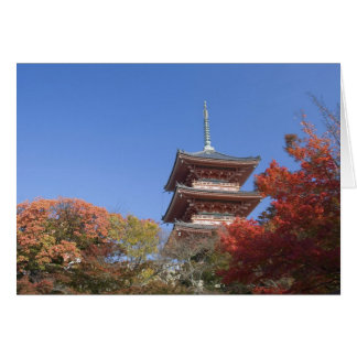 Japan, Kyoto, Pagoda in Autumn colour Card