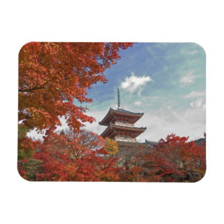 Japan, Kyoto, Pagoda in Autumn colour Magnet