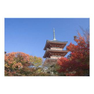 Japan, Kyoto, Pagoda in Autumn colour Photograph