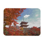Japan, Kyoto, Pagoda in Autumn colour Rectangular Photo Magnet