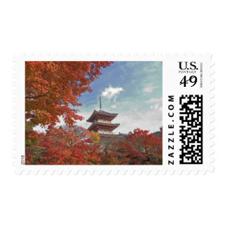 Japan, Kyoto, Pagoda in Autumn colour Stamp