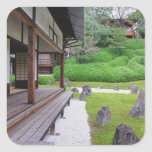 Japan, Kyoto. Stone garden in silence Square Sticker
