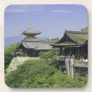 Japan, Kyoto, The View from Kiyomizu Temple Beverage Coaster