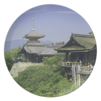 Japan, Kyoto, The View from Kiyomizu Temple Melamine Plate