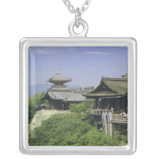 Japan, Kyoto, The View from Kiyomizu Temple Silver Plated Necklace