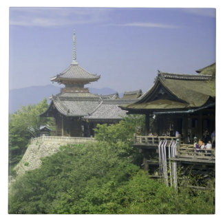 Japan, Kyoto, The View from Kiyomizu Temple Tile