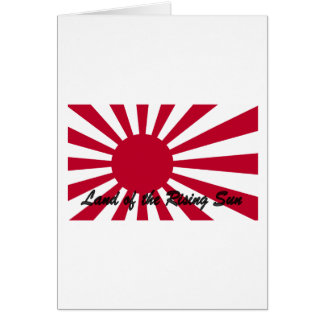Japan - Land of the Rising sun Greeting Card