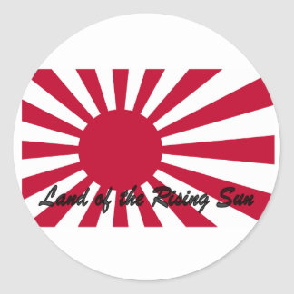 Japan - Land of the Rising sun Classic Round Sticker