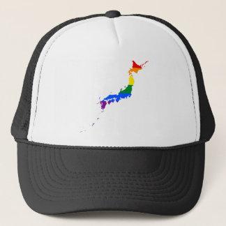 Japan LGBT Flag Map Trucker Hat
