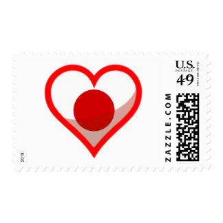 Japan Love Postage Stamp
