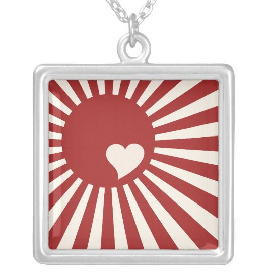 Japan Love Silver Plated Necklace