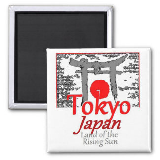 JAPAN 2 INCH SQUARE MAGNET