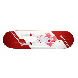 Japan Manga Anime girl dressed in Flag Japanese Skateboard Deck