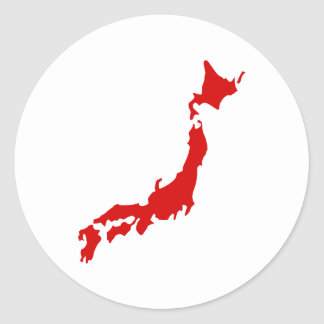 Map Of Japan Stickers Zazzle - Japan map red