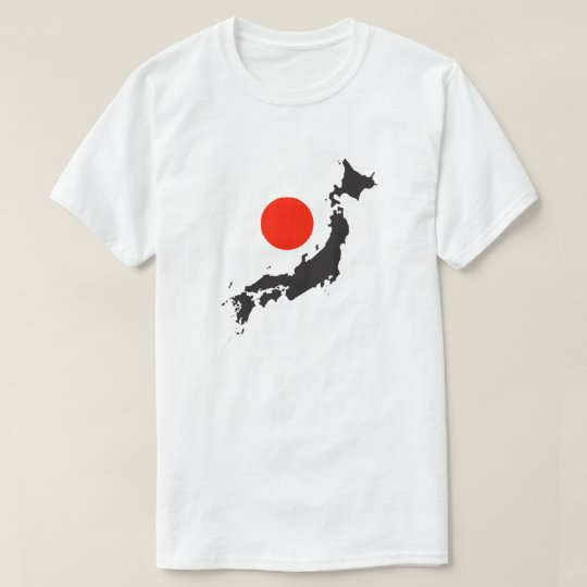 Japan map outline and circle T-Shirt