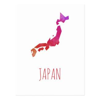 Japan Map Postcard