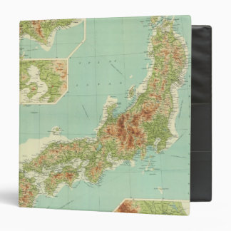 Japan map with shipping routes 3 ring binder