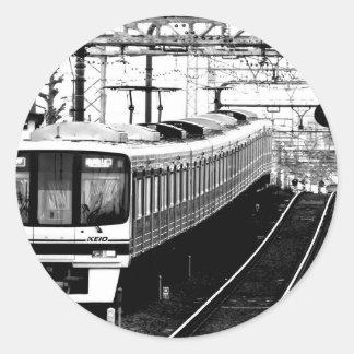 japan modern art design tokyo classic round sticker